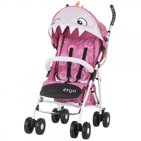 Carucior Chipolino Ergo pink baby dragon