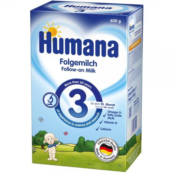 Lapte praf Humana 3 de la 10 luni 600 g