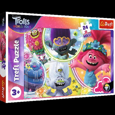 Puzzle Trefl Maxi DreamWorks Trolls, Lumea muzicala a trolilor 24 piese