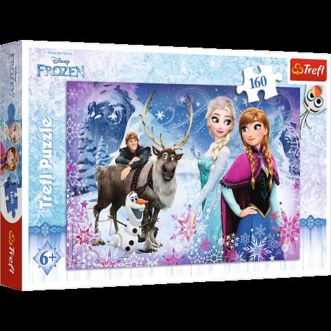 Puzzle Trefl Disney Frozen, Aventura iernii 160 piese