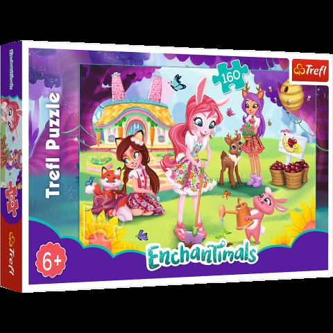 Puzzle Trefl Enchantimals, Bree Danessa si Felicy in gradina 160 piese