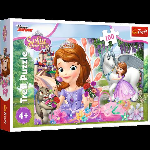 Puzzle Trefl Disney Sofia, Imparatia aventurilor 100 piese