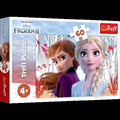 Puzzle Trefl Disney Frozen 2, Lumea fermecata a lui Anna si Elsa 60 piese