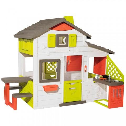 Casuta pentru copii Smoby Friends Playhouse Neo cu bucatarie