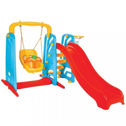 Centru de joaca Pilsan Cute Slide and Swing Set