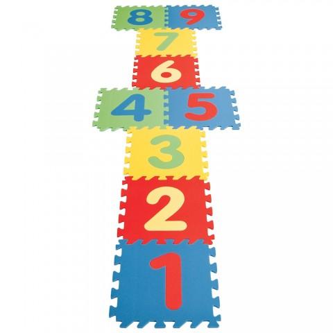 Covor puzzle cu cifre pentru copii Pilsan Educational Polyethylene Play Mat