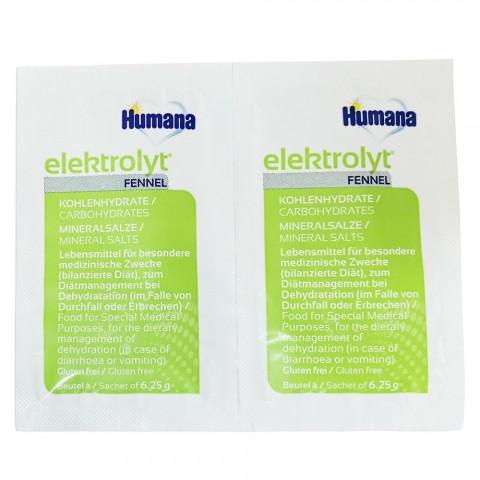Humana Elektrolyt fenicul de la 1 an folie cu 2 plicuri * 6,25 g