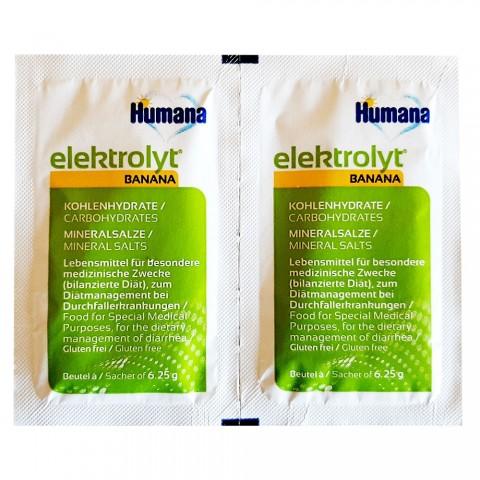 Humana Elektrolyt banane de la 1 an folie cu 2 plicuri * 6,25 g