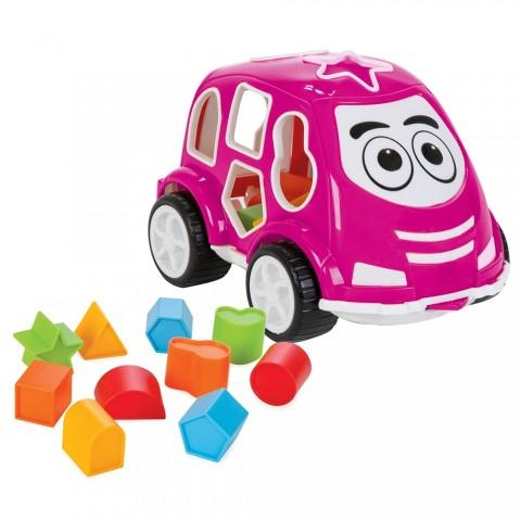 Jucarie cu sortator Pilsan Car pink
