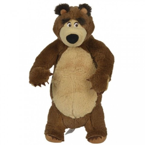 Jucarie de plus Simba Masha and the Bear, Bean Bag Bear in picioare 25 cm