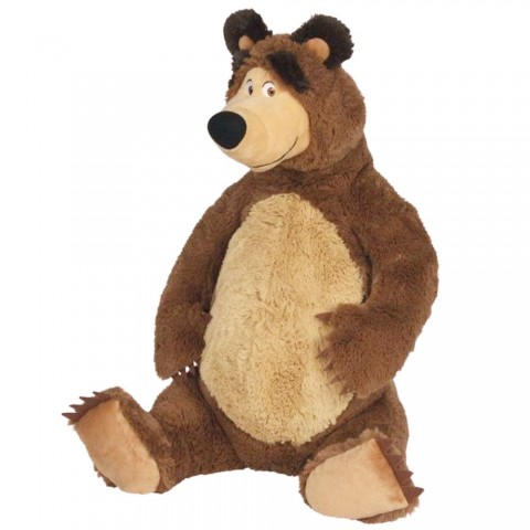 Jucarie de plus Simba Masha and the Bear, Bean Bag Bear sezand 25 cm
