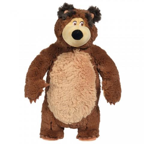 Jucarie de plus Simba Masha and the Bear, Shake and Sound Bear 43 cm