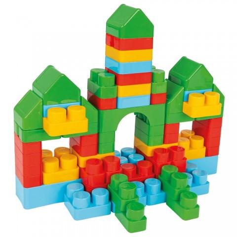 Jucarie Pilsan Cuburi de construit in cutie Jumbo Blocks 166 piese