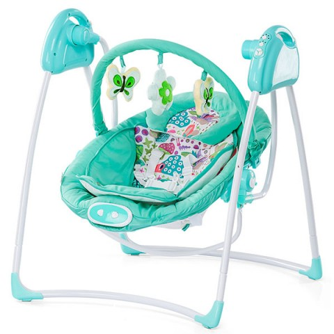 Leagan electric si balansoar Chipolino Paradise blue green
