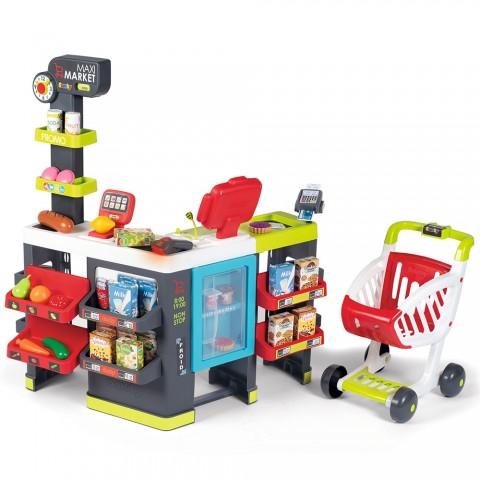 Magazin pentru copii Smoby Maxi Market cu 50 accesorii
