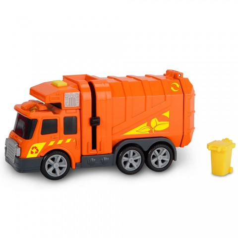 Masina de gunoi Dickie Toys Mini Action Series City Cleaner portocaliu