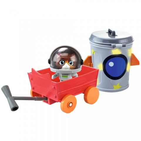 Masina Smoby 44 Cats cu figurina Cosmo 7,7 cm