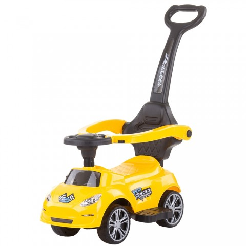 Masinuta de impins Chipolino Turbo yellow cu maner
