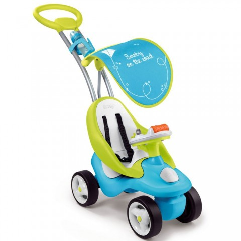 Masinuta de impins Smoby Bubble Go 2 in 1 blue