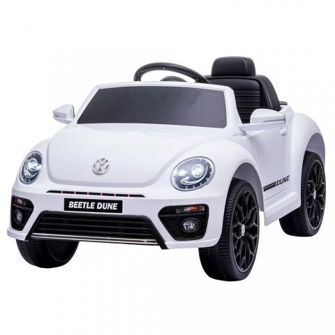 Masinuta electrica Chipolino Volkswagen Beetle Dune Convertible white