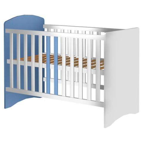 Patut copii din lemn Hubners Anne 120x60 cm alb-albastru