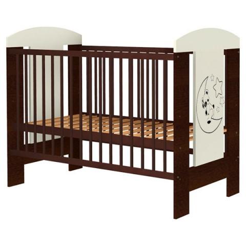 Patut copii din lemn Hubners Carolin Ursulet 120x60 cm venghe