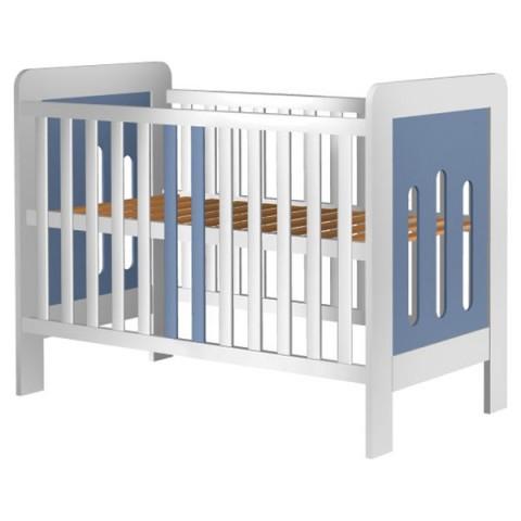 Patut copii din lemn Hubners Sophie 120x60 cm alb-albastru