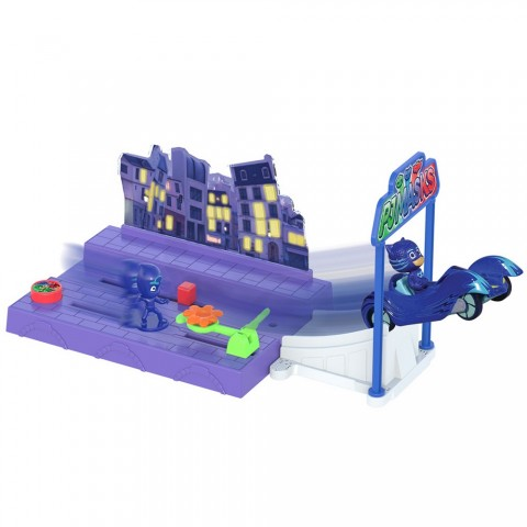 Pista de masini Dickie Toys Eroi in Pijamale Night Mission
