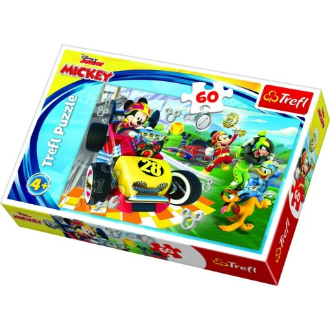 Puzzle Trefl Disney Mickey Mouse, Raliu cu prietenii 60 piese