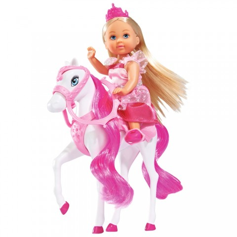 Papusa Simba Evi Love 12 cm Royal Horse cu calut