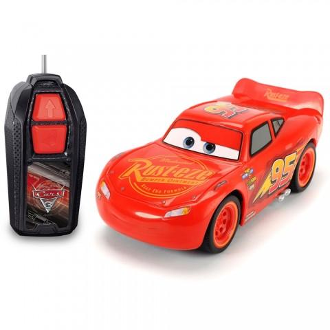 Masina Dickie Toys Cars 3 Single-Drive Lightning McQueen cu telecomanda