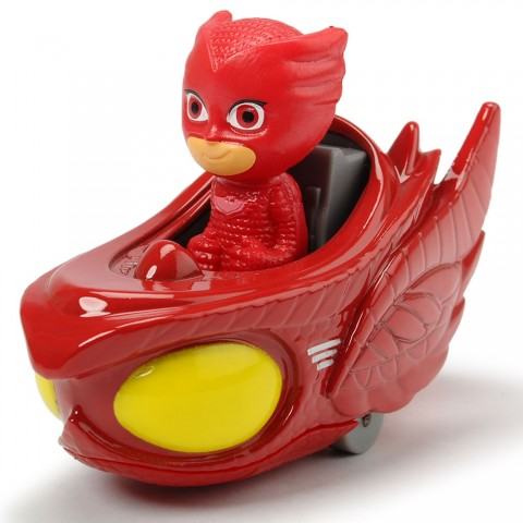 Masina Dickie Toys Eroi in Pijama Owl-Glider cu figurina