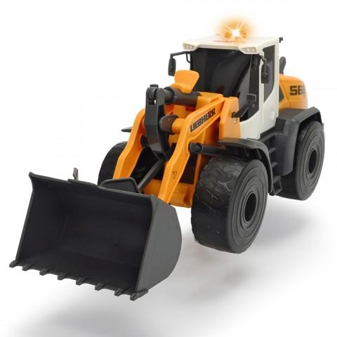Excavator Dickie Toys Liebherr L566 Xpower cu sunete si lumini