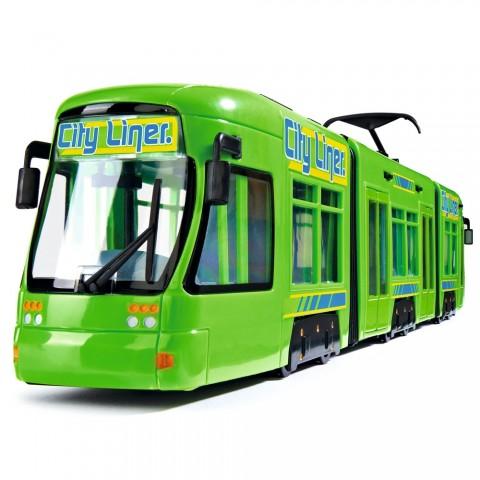 Tramvai Dickie Toys City Liner verde