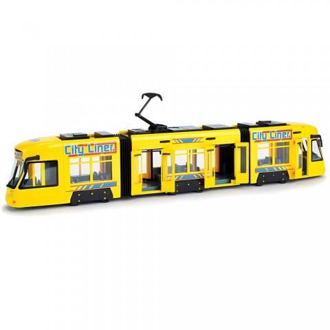 Tramvai Dickie Toys City Liner galben