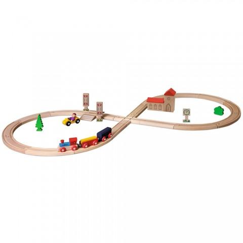 Set Eichhorn Tren cu sina in forma 8 si accesorii