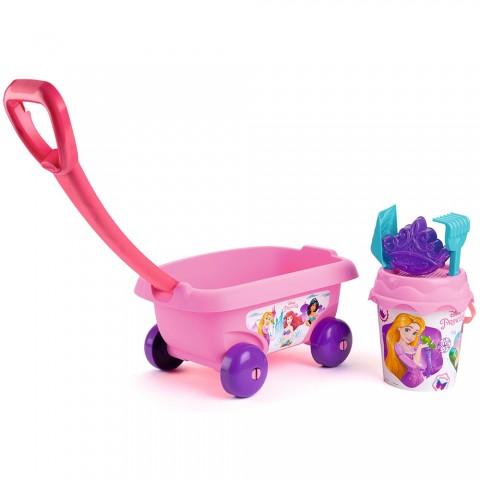 Set jucarii nisip Smoby Carucior Disney Princess cu accesorii