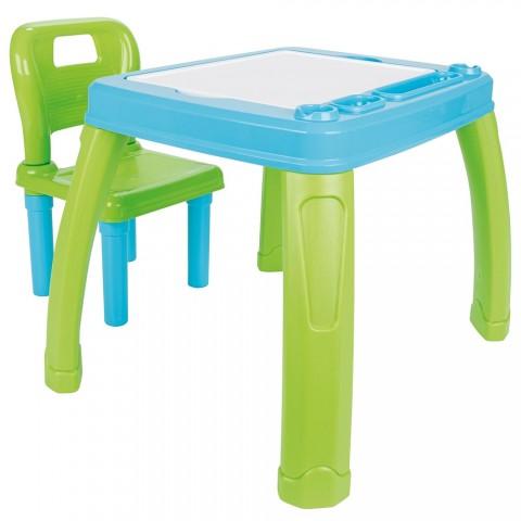 Set Masuta cu scaun pentru copii Pilsan Study Table blue