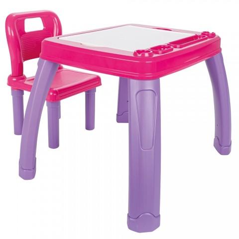 Set Masuta cu scaun pentru copii Pilsan Study Table pink