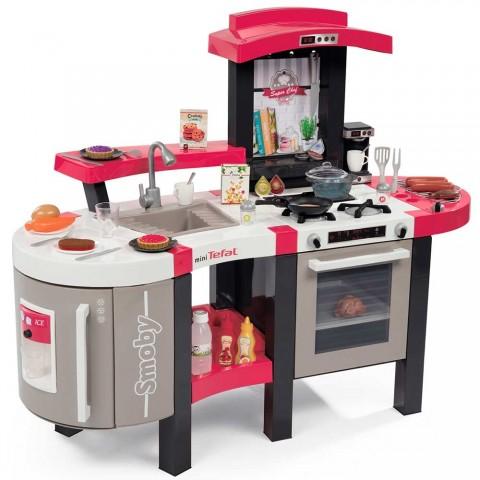 Bucatarie Smoby Tefal Super Chef Deluxe cu grill si aparat de cafea