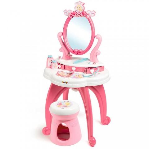 Jucarie Smoby Masuta de machiaj Disney Princess 2 in 1 cu accesorii