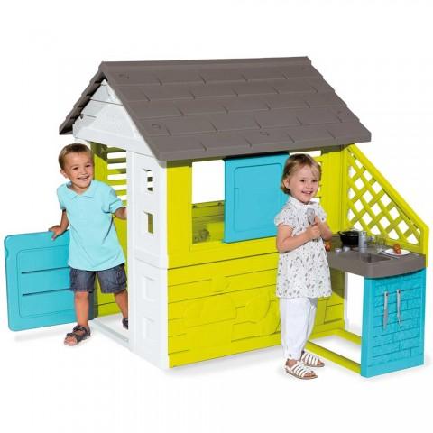 Casuta pentru copii Smoby Pretty cu bucatarie