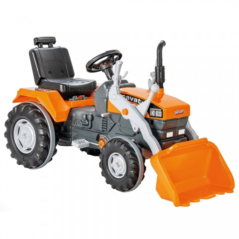 Tractor cu pedale Pilsan Super Excavator 07-297 orange