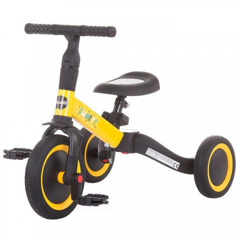 Tricicleta si bicicleta Chipolino Smarty 2 in 1 yellow