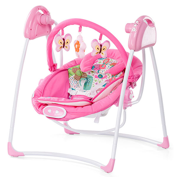 Leagan electric si balansoar Chipolino Paradise pink