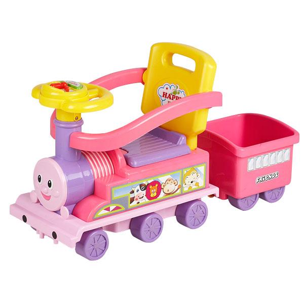 Masinuta Chipolino Train pink-lilac
