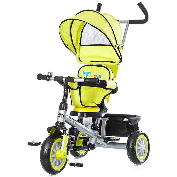 Tricicleta cu copertina si sezut reversibil Chipolino Twister lime 2015